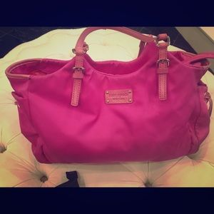 Authentic Kate Spade Hot Pink Tote/Diaper Bag